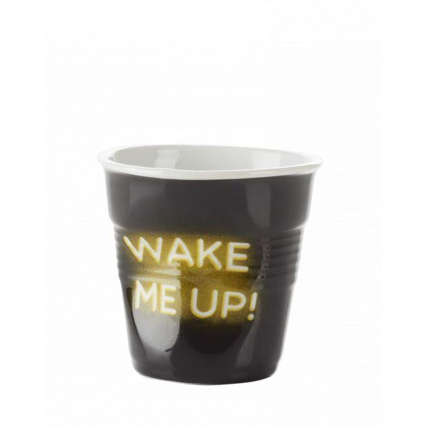 Froissé espresso décoré Néon Wake me up