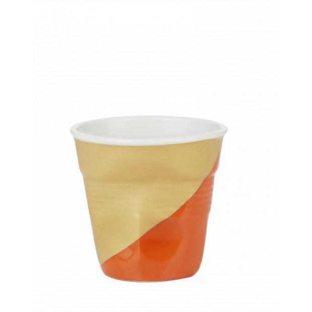 Froissé espresso décoré Twist Orange down