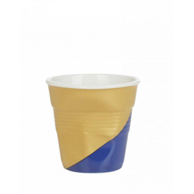 Froissé espresso décoré Twist blue down