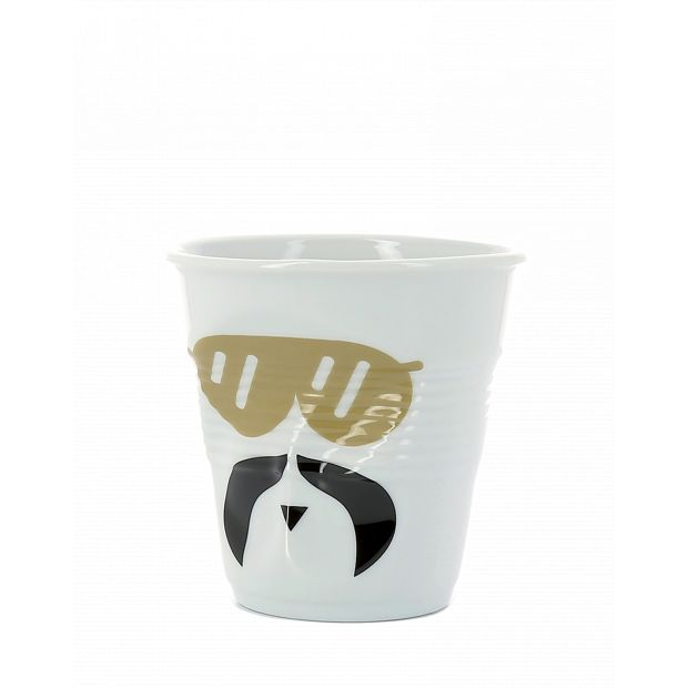 Froissé cappuccino décoré Monsieur Glam