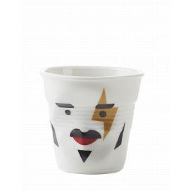 Froissé cappuccino décoré Mr rock star
