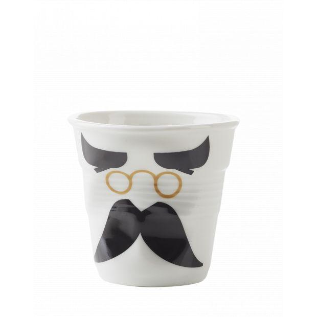 Froissé cappuccino décoré Mr binocle