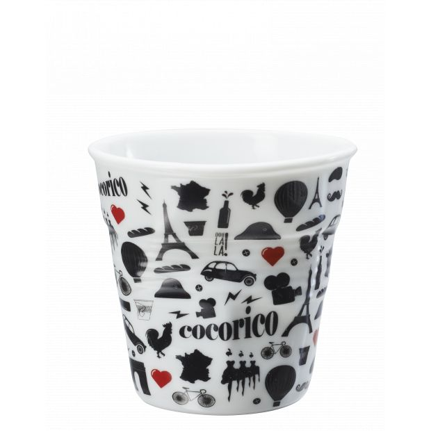 Froissé cappuccino décoré Cocorico