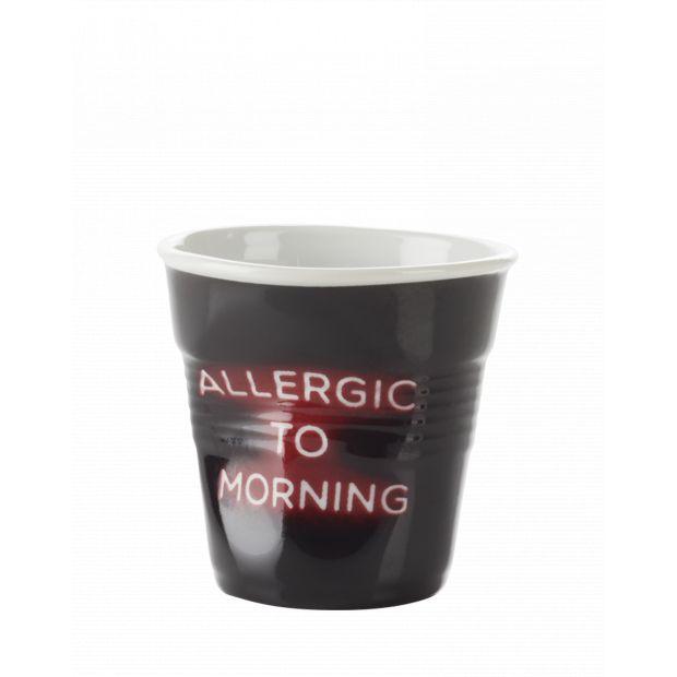 Froissé cappuccino décoré Néon Allergic to morning