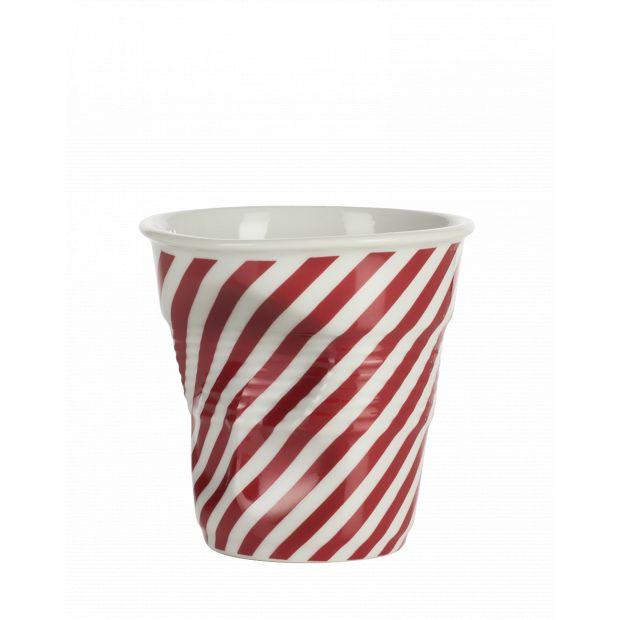 Froissé cappuccino décoré Berlingot rouge