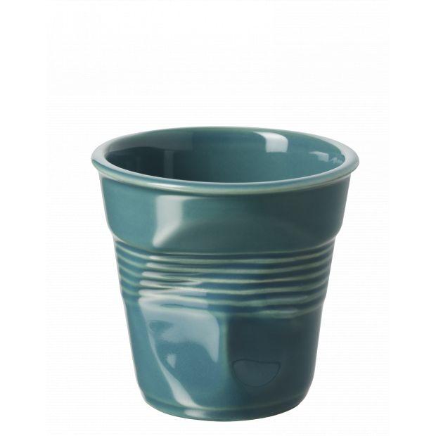 Froissé cappuccino uni Vert Lagune