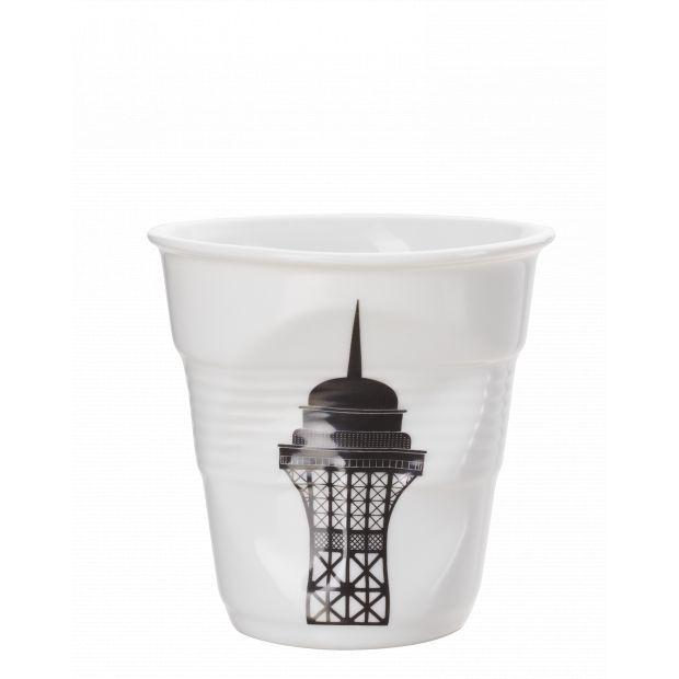 Froissé espresso décoré Tour Eiffel