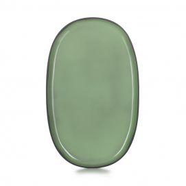 Assiette ovale Caractère 35 cm Menthe