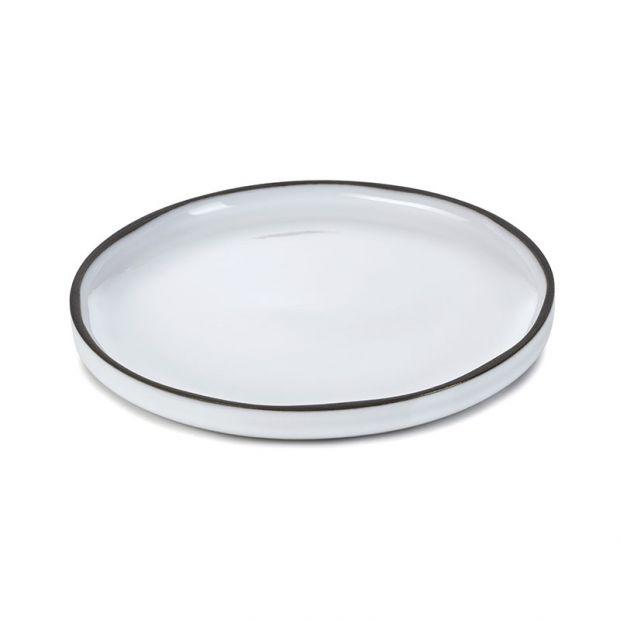 Assiette Caractère Blanc Cumulus