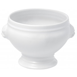soupière tête de lion en porcelaine blanche - french classics
