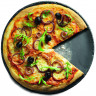 Assiette à pizza en céramique effet ardoise