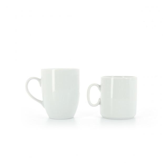 Mug en porcelaine blanche