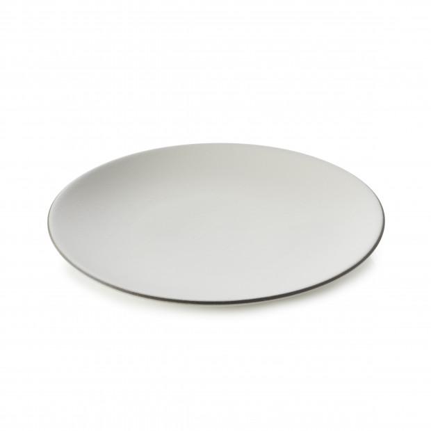 Assiette Plate en Porcelaine Equinoxe Edition Collector - Blanc coton - 16 à 31,5 cm