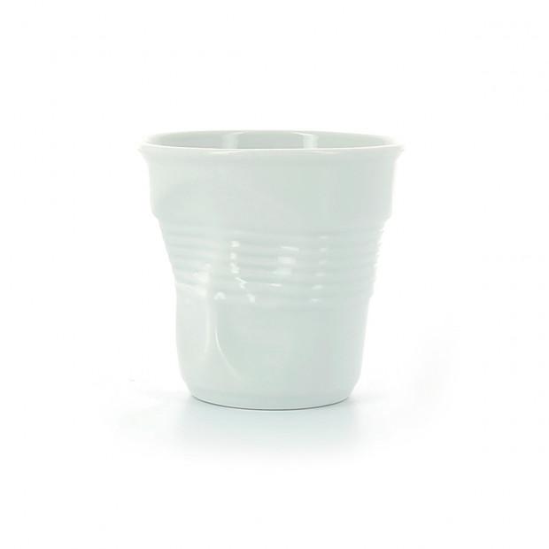 Tasse Gobelet Froissé Cappuccino unie en porcelaine 18 cl - 9 couleurs