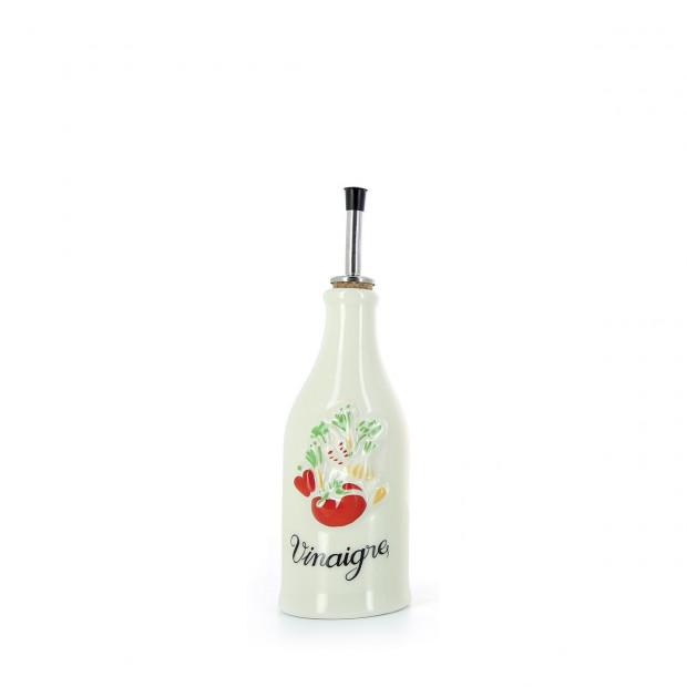 Bouteille vinaigre Provence en porcelaine