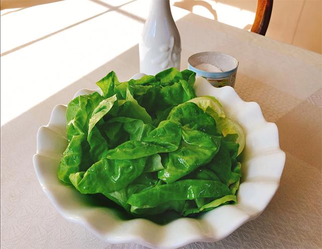 luxurious lettuce salad