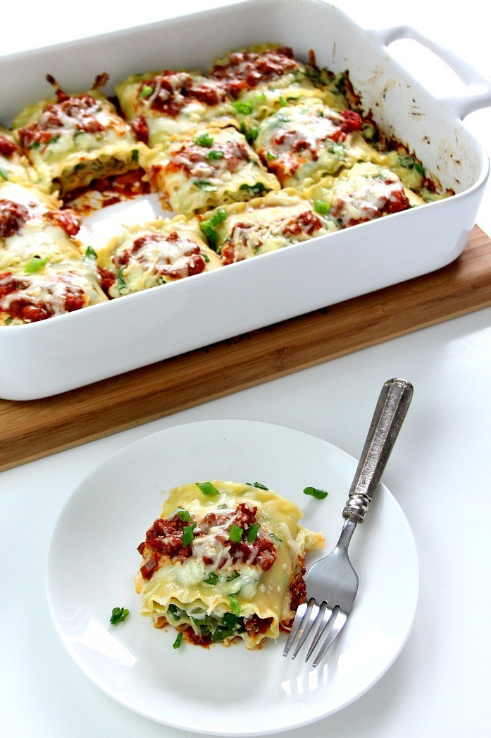 SPINACH LASAGNA ROLL UPS RECIPE By Crunchy Cream Sweet