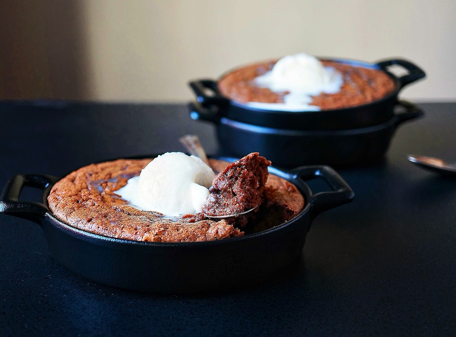Miss Hangry Pants Thai Tea Skillet Brownies