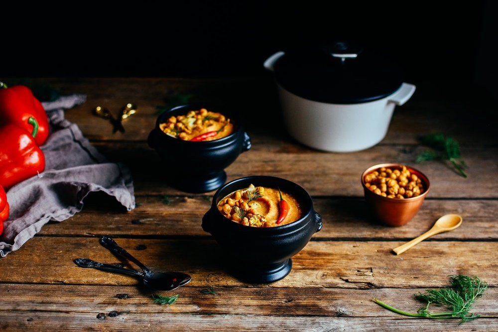 Roasted Red Pepper and Cauliflower Soup by Kelsey