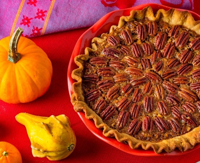Double-nut Bourbon Pecan pie