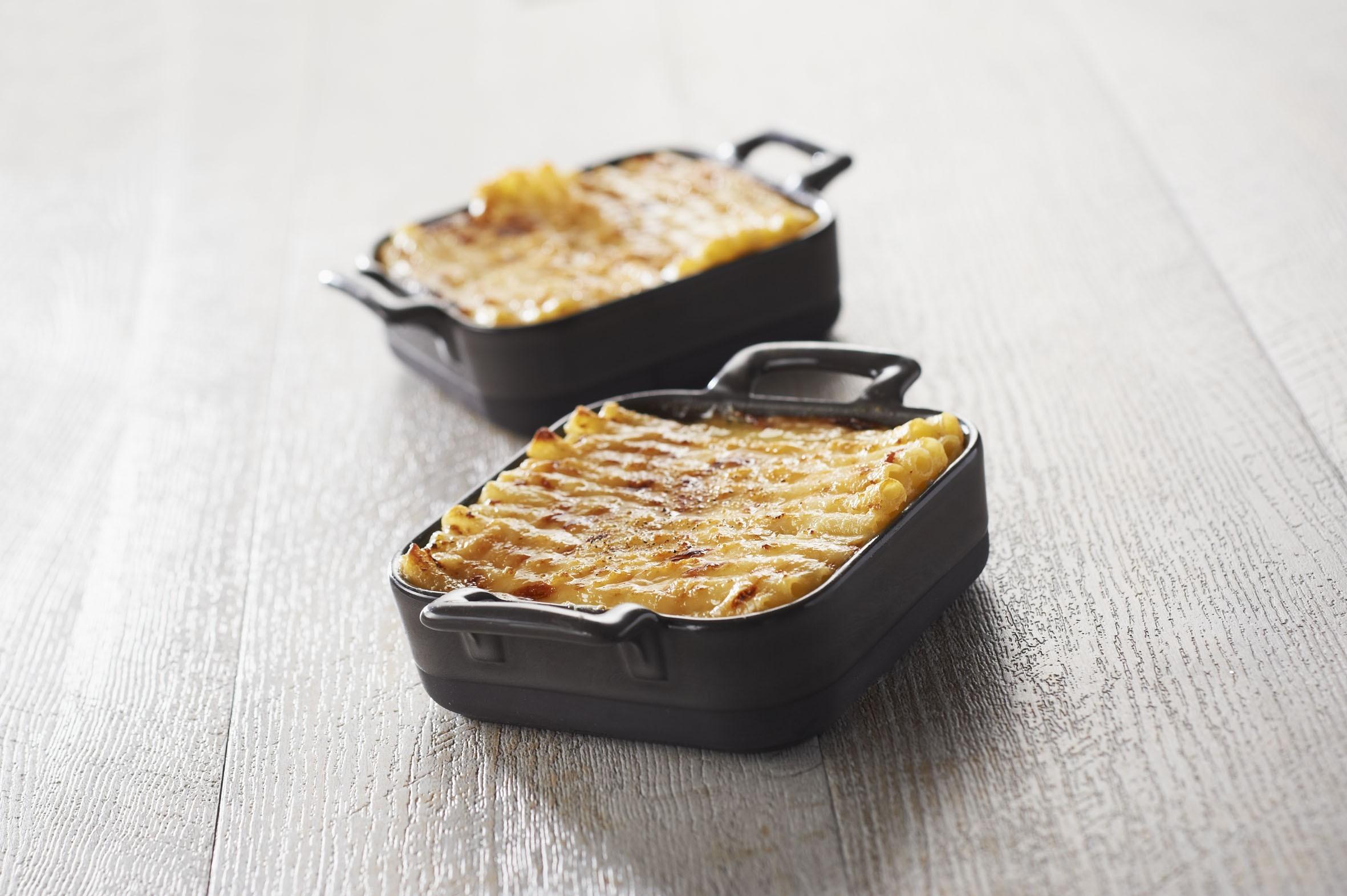 Macaroni Gratin with foiegras leftovers
