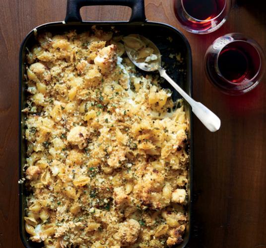 Crusty Baked Shells & Cauliflower by Food & Wine Magazine