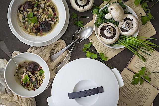 Scum with mushrooms and ham by LOLETA