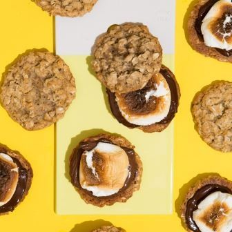 BANANA OATMEAL COOKIE S'MORES BY WIT & VINEGAR