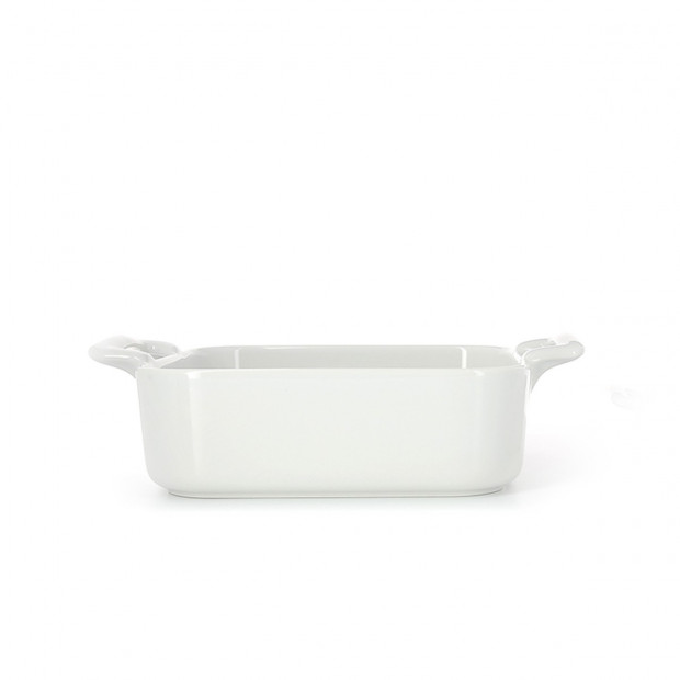 Deep square porcelain dish
