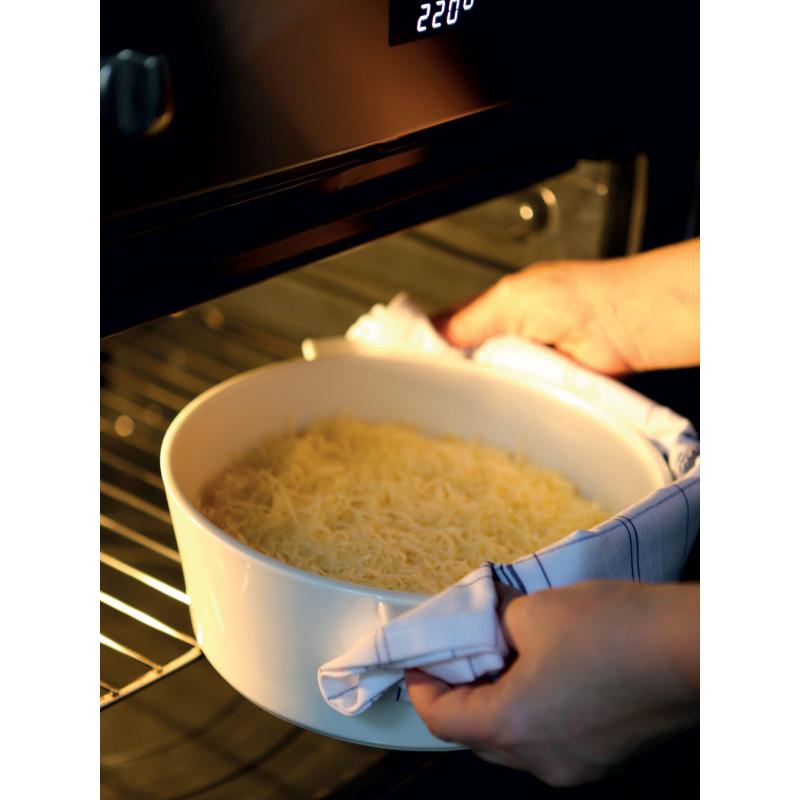 Round Casserole Dish In Ceramics Non Induction Glass