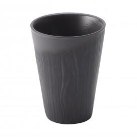 Wood-effect porcelain cup - Liquorice