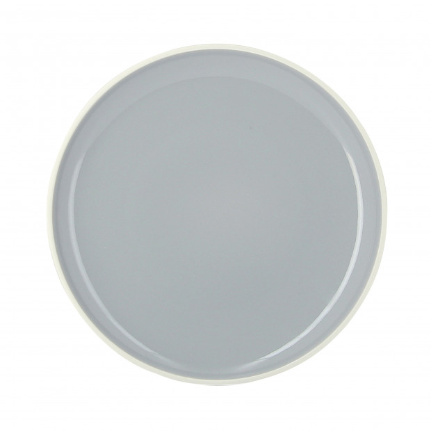 Coloured porcelain flat plate - Stratus Grey