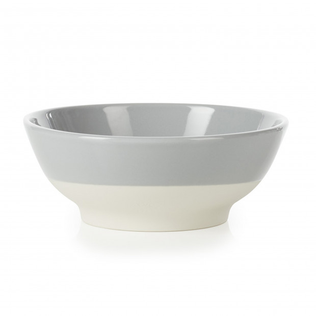 small coloured porcelain cereal bowl - Stratus Grey