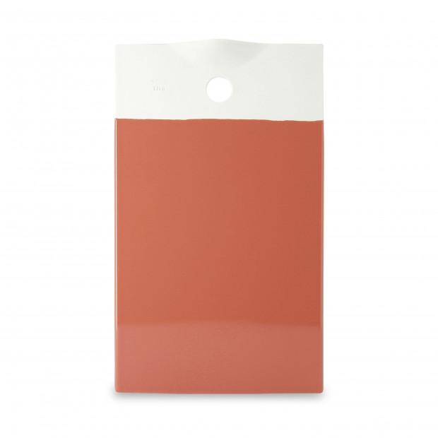 Coloured porcelain gourmet tray - Capucine Orange