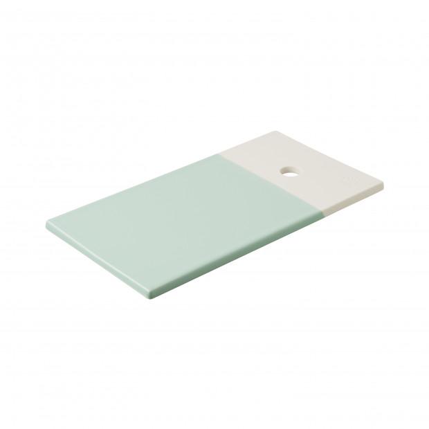 Coloured porcelain gourmet tray - Celadon Green