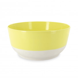 Coloured porcelain salad bowl - Citrus Yellow