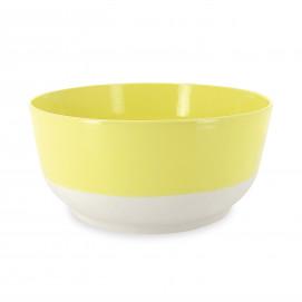 Coloured porcelain salad bowl - Citrus Yellow