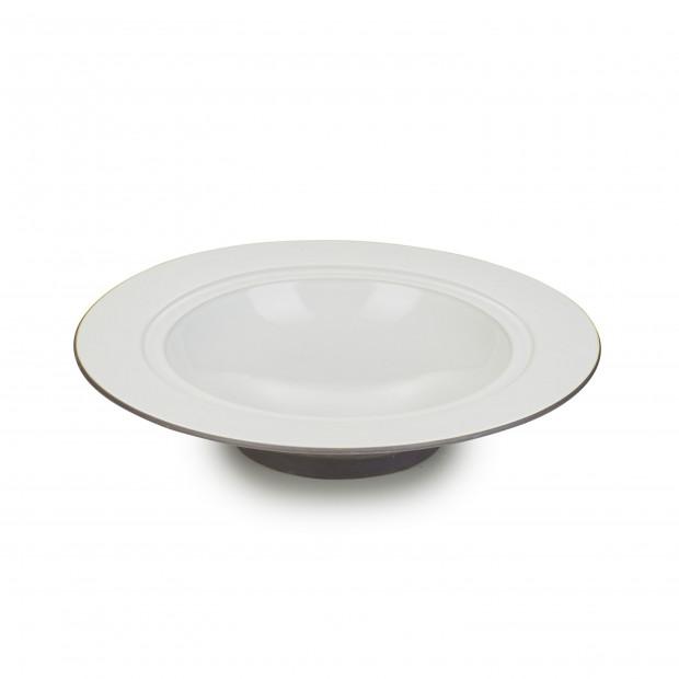 Dim Sum deep plate - Cumulus White
