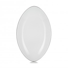 Oval ceramic plate - Cumulus White