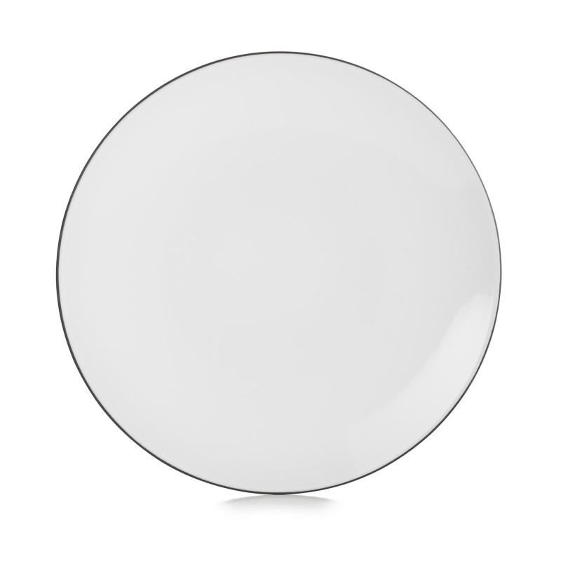 Flat Ceramic Plate Cumulus White