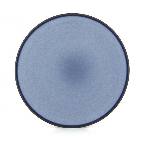 Flat ceramic plate - Cirrus Blue