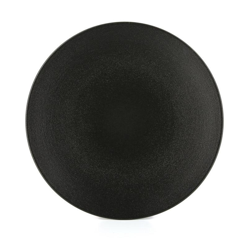 Flat Ceramic Plate Cast Iron Style