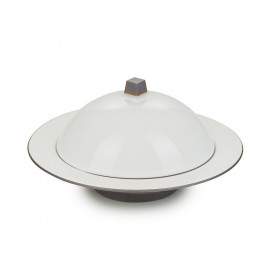 Dim Sum cloche and deep plate - Cumulus White