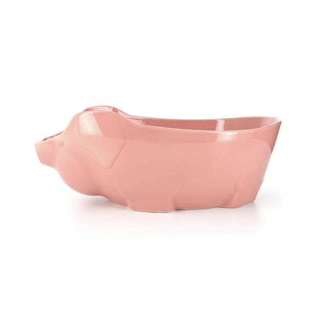 Porcelain pig dish - Pink