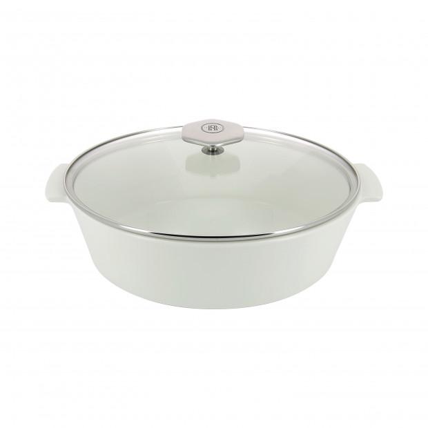 Oval casserole dish in ceramics, non-induction - Glass