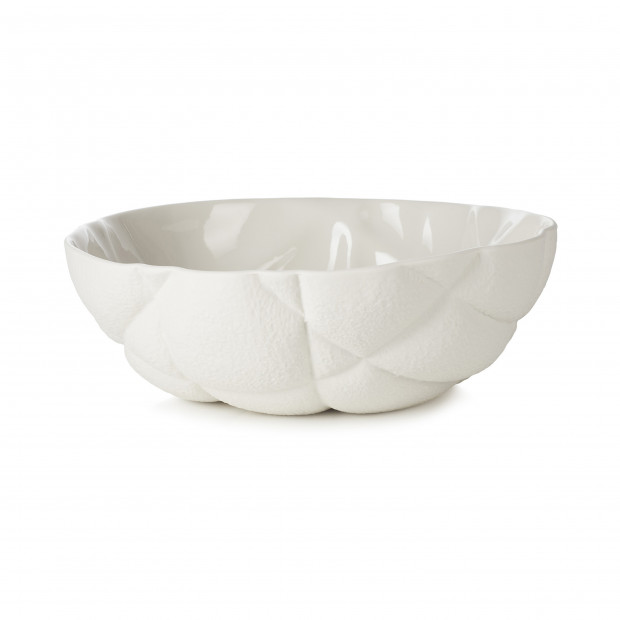 Porcelain salad bowl - White