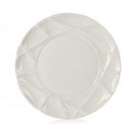 Porcelain flat plate - White