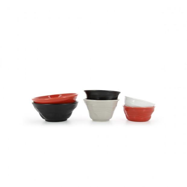 Crumpled porcelain ramekin