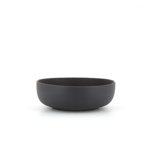 Individual slate-effect ceramic salad bowl