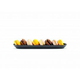 Slate-effect ceramic baguette dish